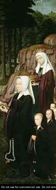 Right hand panel of the Jean de Trompes Triptych with Patrons - Gerard David