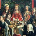 The Marriage at Cana detail of the bride and surrounding guests - Gerard David