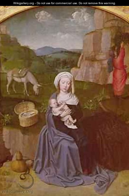 The Rest on the Flight into Egypt - Gerard David