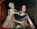 Portrait of Queen Mary of Modena 1658-1718 with Prince James Stuart 1688-1766 - Benedetto Gennari