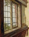 View of the Elbe through a Window - Johann Martin Gensler