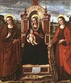 Madonna and Child Enthroned with St Catherine of Alexandria and a Holy Female Martyr - Bartolommeo de Gentile de Urbino