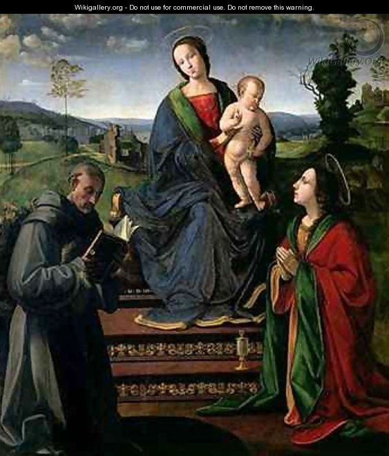 Madonna and Child with St Francis of Assisi and St Mary Magdalene - Ridolfo Ghirlandaio