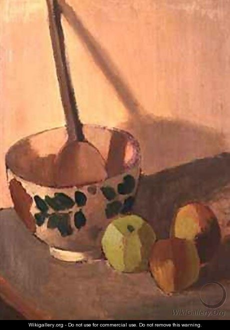 Still Life with Apples and a Mixing Bowl - Mark Gertler
