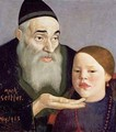 The Rabbi and his Grandchild - Mark Gertler