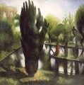 The Pond at Garsington - Mark Gertler