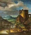 Italian Landscape or Landscape with a Tomb - Theodore Gericault