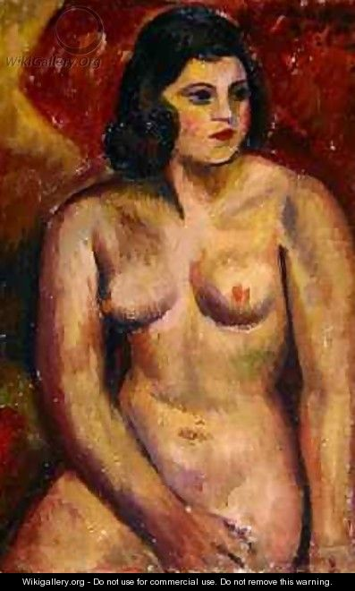 Study of a Female Nude - Mark Gertler