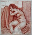 Seated Nude Figure - Mark Gertler