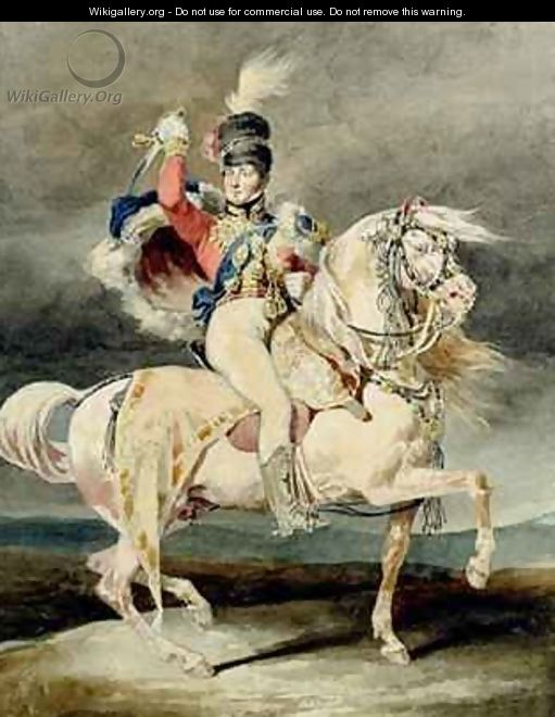 George IV as Prince of Wales after Harlow - Theodore Gericault