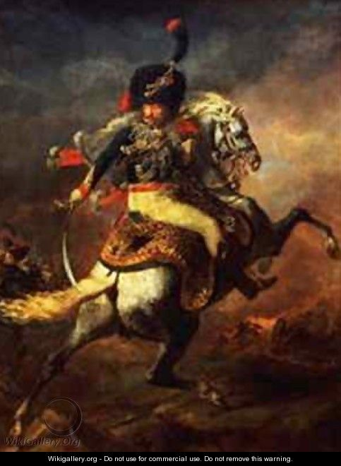 Officer of the Hussars 2 - Theodore Gericault