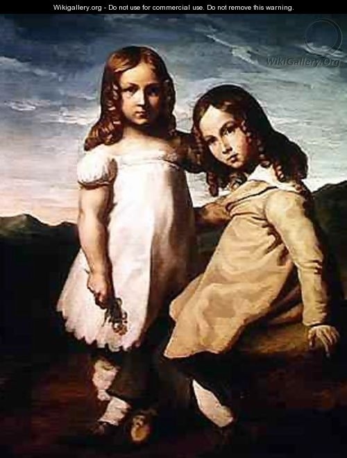 Alfred Dedreux 1810-60 as a Child with his Sister Elisabeth - Theodore Gericault