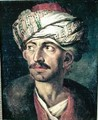 Head of an Oriental or Portrait Presumed to be Mustapha - Theodore Gericault