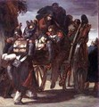 Wounded Soldiers in a cart - Theodore Gericault