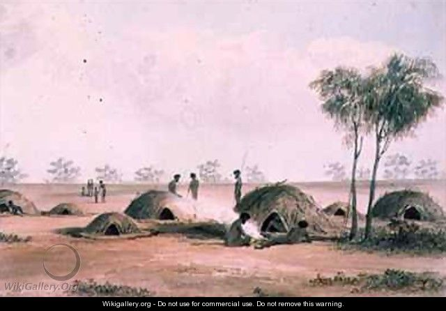 Native Village in the northern interior of South Australia - Samuel Thomas Gill