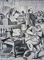 Grover Cleveland 1837-1908 telling the truth about his private life while his opponent James Blaine 1830-93 is portrayed as corrupt - Victor Gillam