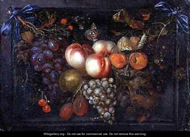 Still Life of Fruit in a Stone Niche - Jan Pauwel Gillemans The Elder