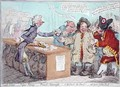 Opening of the Budget or John Bull giving his breeches to save his Bacon 3 - James Gillray