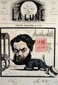 Caricature of Jules Valles cover illustration from La Lune - Andre Gill