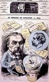 Front cover of LEclipse with a caricature of Edmond de Goncourt - Andre Gill