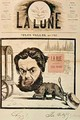 Front page of La Lune with a caricature of Jules Valles and his magazine La Rue - Andre Gill