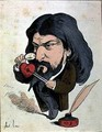Caricature of Alphonse Daudet 1840-97 from Les Hommes dAujourdhui - Andre Gill