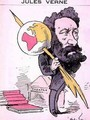 Caricature of Jules Verne 1828-1905 from Men of Today - Andre Gill