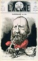 Cover illustration of La Lune magazine featuring Giuseppe Garibaldi 1807-82 - Andre Gill