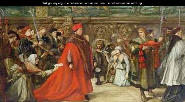Cardinal Wolsey Going in Procession to Westminster Hall - Sir John Gilbert