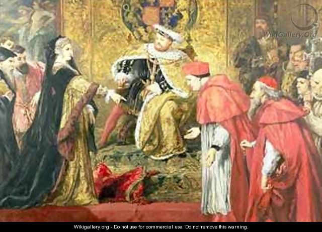 Queen Catherine and the Cardinals - Sir John Gilbert