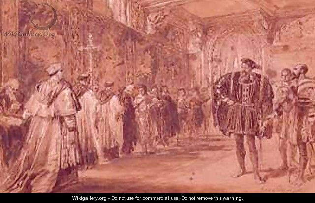 Henry VIII and Cardinal Thomas Wolsey - Sir John Gilbert