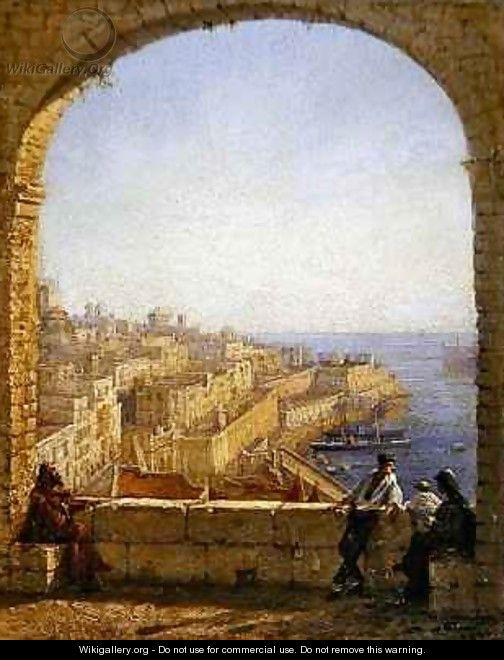 Inside the Fortifications Valetta View from the Arch by Day - Girolamo Gianni