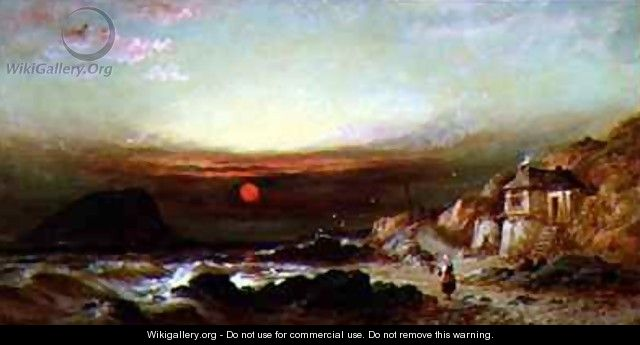 The Mewstone Rock from Wembury - William Gibbons