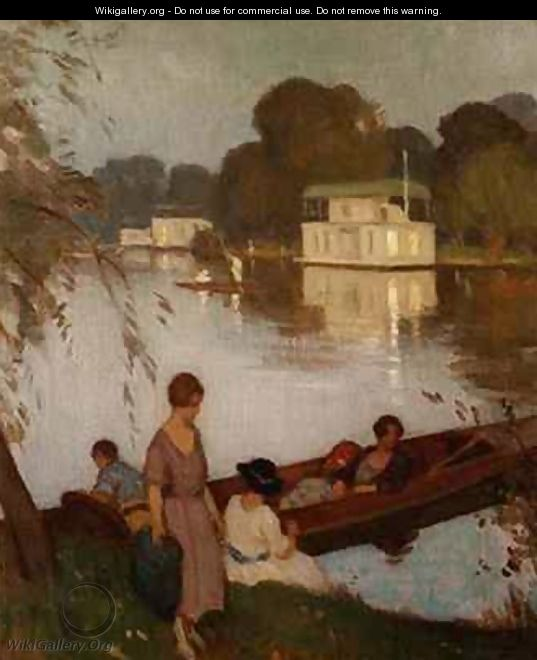 On the Thames - Percy William Gibbs