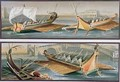 Roman Sailboats and Rowing Boats after frescoes in the Temple of Isis in Pompeii - Giacinto Gigante