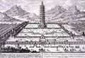 The Porcelain Tower of Nanking 2 - (after) Fischer von Erlach, Johann Bernhard