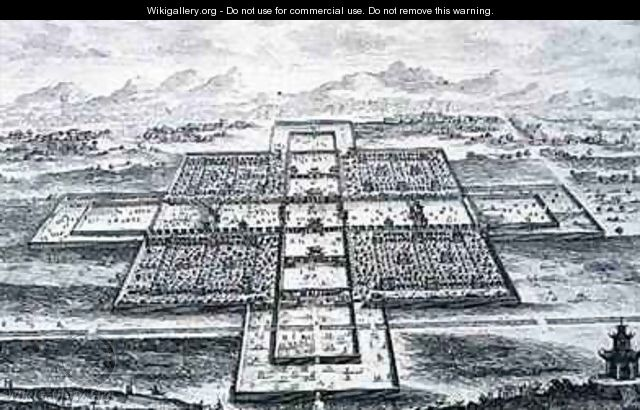 Perspective View of the Imperial Palace Peking China - (after) Fischer von Erlach, Johann Bernhard