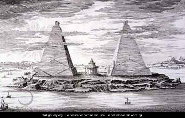 The Two Pyramids of Moeris King of Egypt and his Wife - (after) Fischer von Erlach, Johann Bernhard