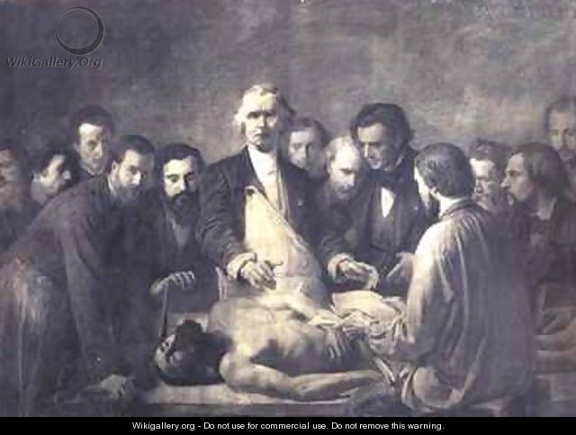 The Anatomy Lesson of Doctor Velpeau 1795-1867 - Francois Nicolas ...