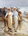 Oyster Girls at Cancale - Francois Nicolas Augustin Feyen-Perrin