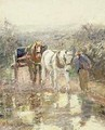 Horses and Cart - Harry Fidler