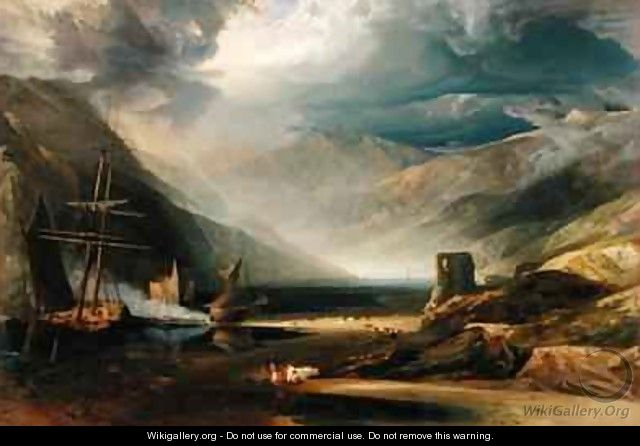 A Storm Passing Off on the Coast of Merionethshire - Anthony Vandyke Copley Fielding