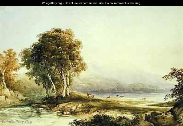 Mountainous Landscape with Lake and Stream - Anthony Vandyke Copley Fielding