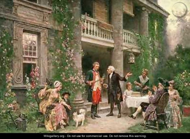 George Washington at Bartrams Garden - Jean-Leon Gerome Ferris