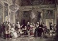 John Paul Jones and Benjamin Franklin at the Court of Louis XVI - Jean-Leon Gerome Ferris