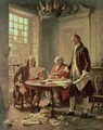 The Drafting of the Declaration of Independence in 1776 - Jean-Leon Gerome Ferris