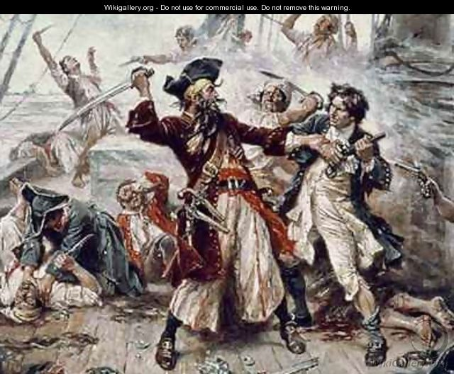 The Capture of the Pirate Blackbeard 2 - Jean-Leon Gerome Ferris
