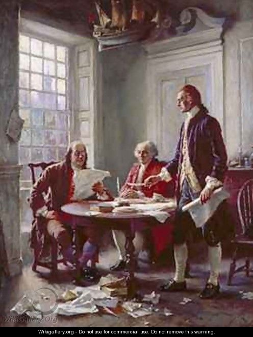 Writing the Declaration of Independence in 1776 - Jean-Leon Gerome Ferris