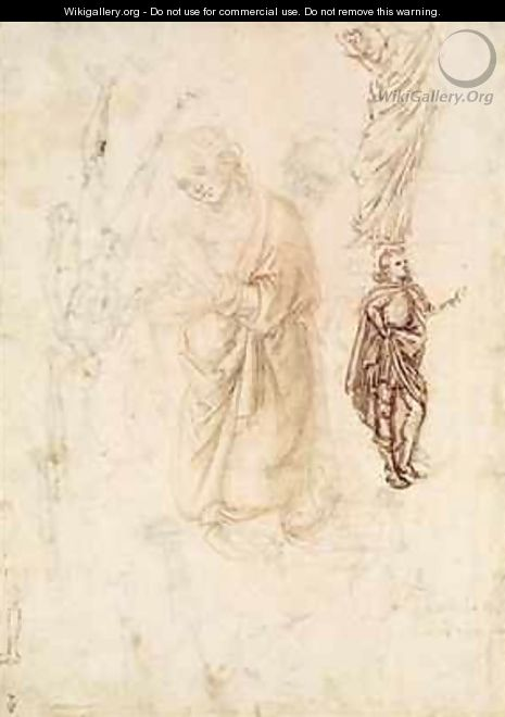 Sheet of studies with the Virgin - Francesco di Simone da Fiesole Ferrucci