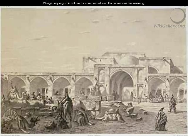 Caravanserai On The Road From Isfahan To Shiraz Eugene Napoleon
